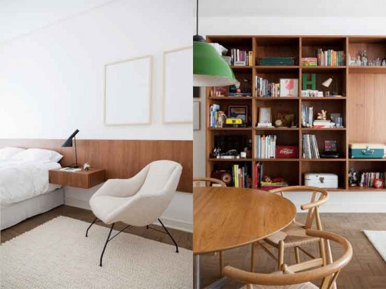 lovely airy scandinavian and mid century modern apartment digsdigs | Airy Brazil Apartment In Mid-Century Style - DigsDigs
