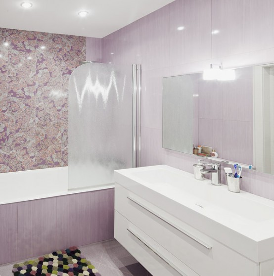Apartment Bathroom Ideas: Airy Modern Apartment In Light Shades