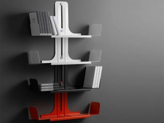 Modular Aluminum Bookshelf System – Alibook by Domodinamica
