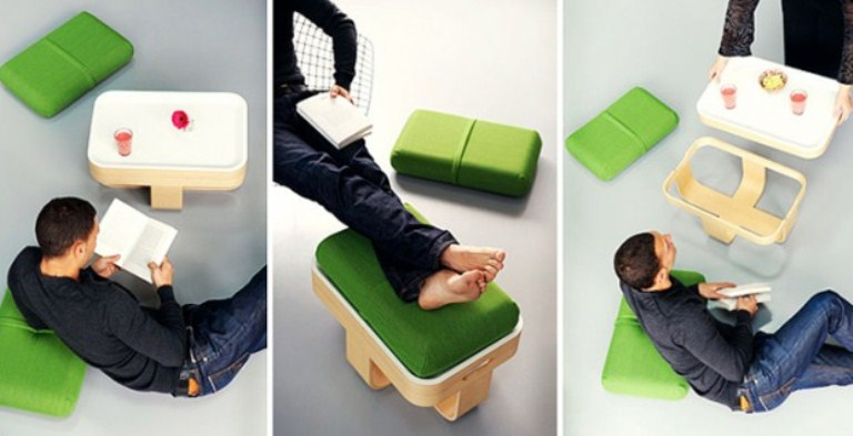 All-In-One Functional Piece Of Cushions And Basket
