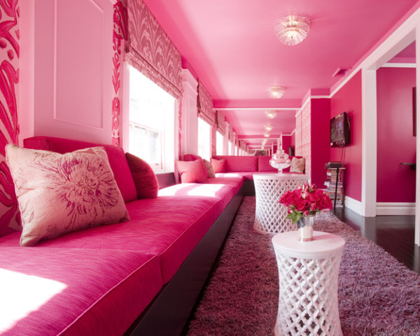 All Pink Living Room