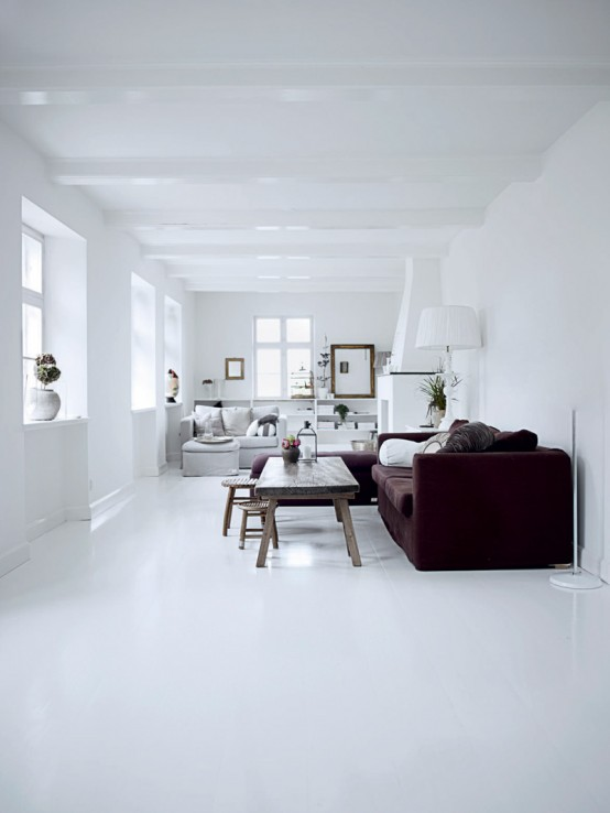 All White Home Interiors all white interior design of the homewares designer home - digsdigs