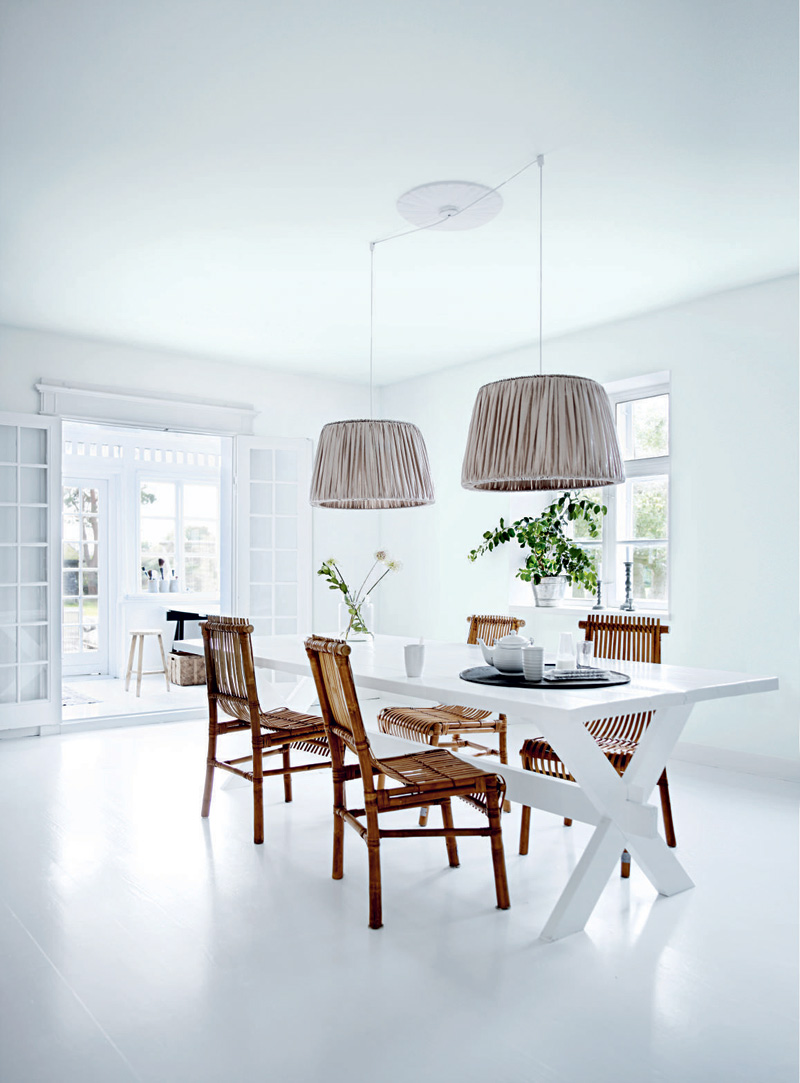 All white interior design of the homewares designer home White house interior design