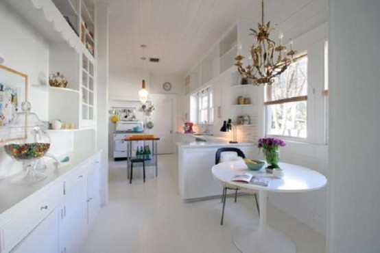 All-White Kitchen Design