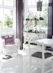 All White Sunroom