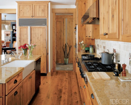 Kitchen With Gorgeous Alder Cabinets