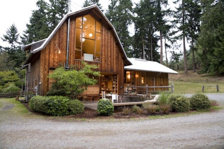 Of This Cozy Rustic Barn Cabin Likewise Modern Bungalow House Home
