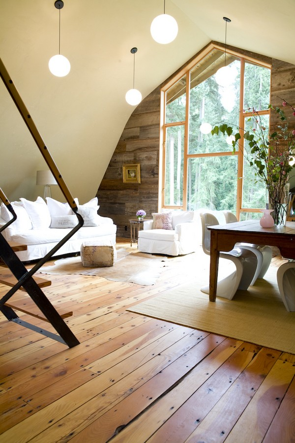 Amazing barn transformation into a cozy modern house Wood paneling transformation