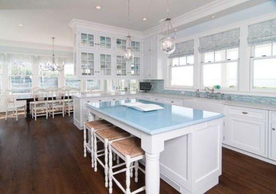 32 amazing beach inspired kitchen designs digsdigs Kitchen design center virginia beach