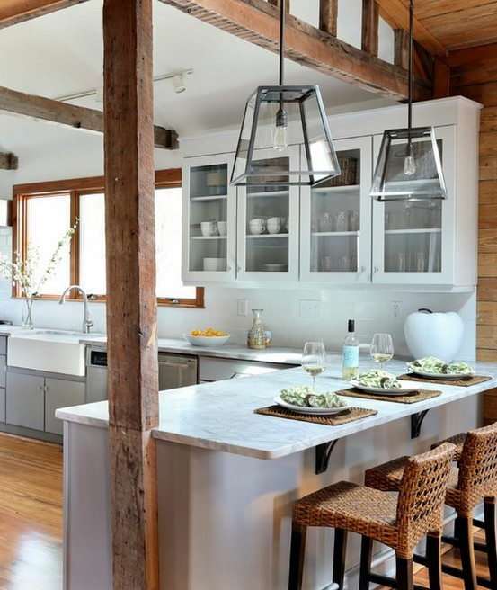10 Beach House Decor Ideas: 32 Amazing Beach-Inspired Kitchen Designs