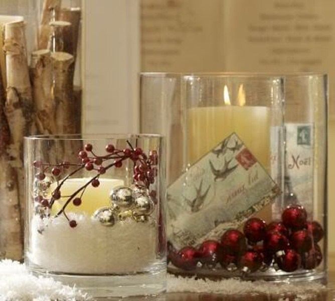 23 amazing christmas candles and decorations with them - Vase decoration interieur ...