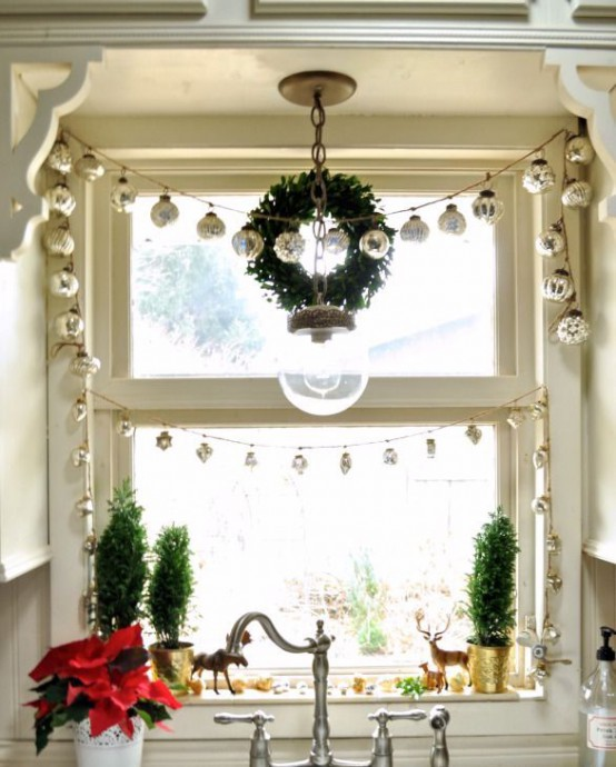 amazing kitchen christmas garland | 38 Amazing Christmas Garlands For Home Décor - DigsDigs