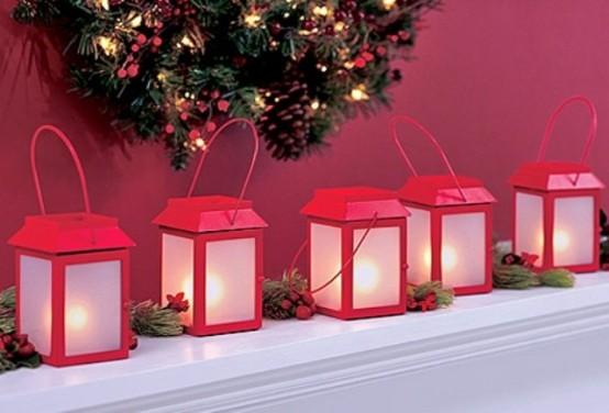 65 amazing christmas lanterns for indoors and outdoors for Adornos de navidad para jardin