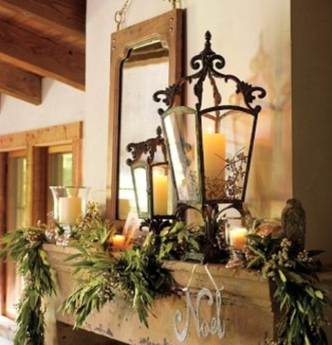 arrange a grouping of festive lanterns at your front steps is a cool