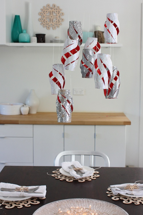 There are lots of ways to make lanterns for Christmas. The most simple one is simply to cut them from paper. Although you should choose the paper in seasonal colors!