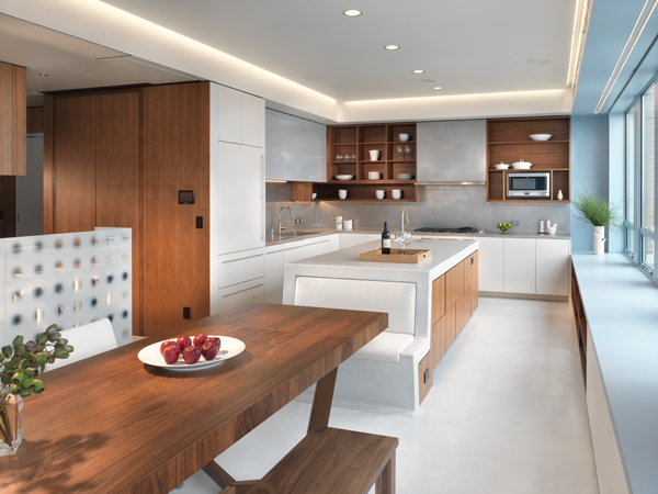 Amazing interior design of modern duplex penthouse digsdigs Modern kitchen design ideas houzz