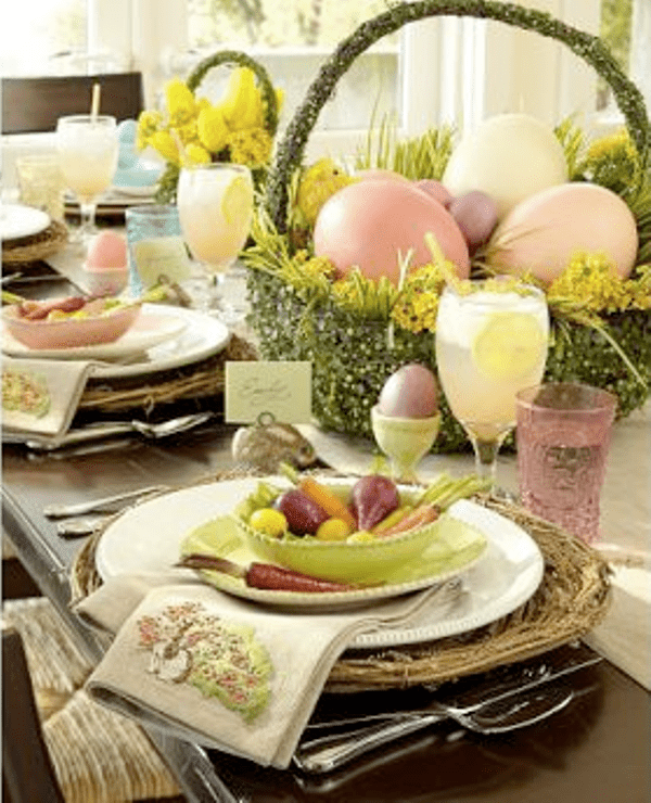 34 amazing easter centerpiece ideas for any taste digsdigs. Black Bedroom Furniture Sets. Home Design Ideas