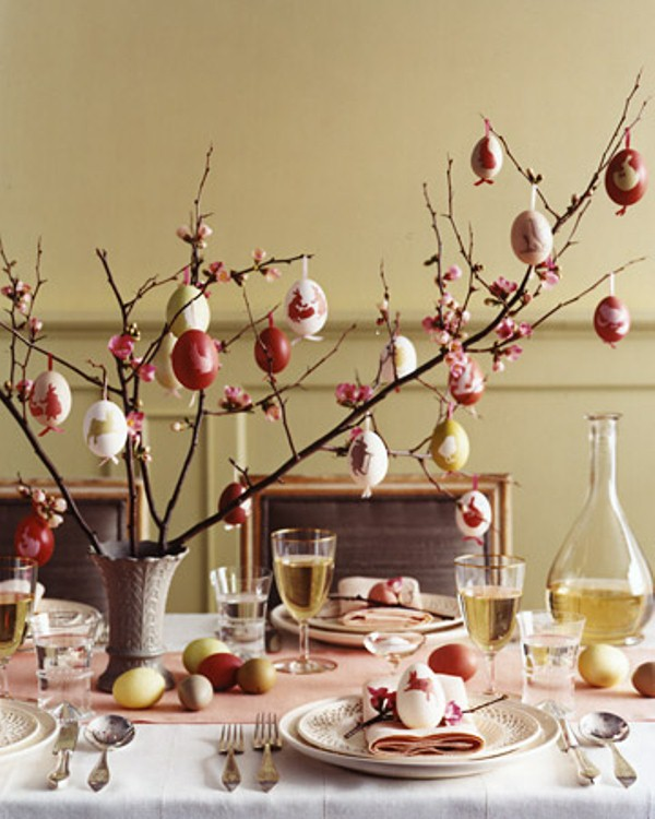 Decorate Christmas Tree For Easter : Amazing easter centerpiece ideas for any taste digsdigs