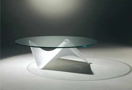 Amazing Glass Top Coffee Table Stingray By Draenert