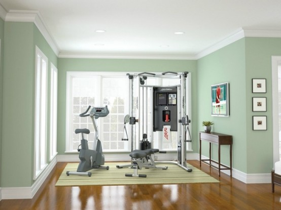 Green Home Gym Design