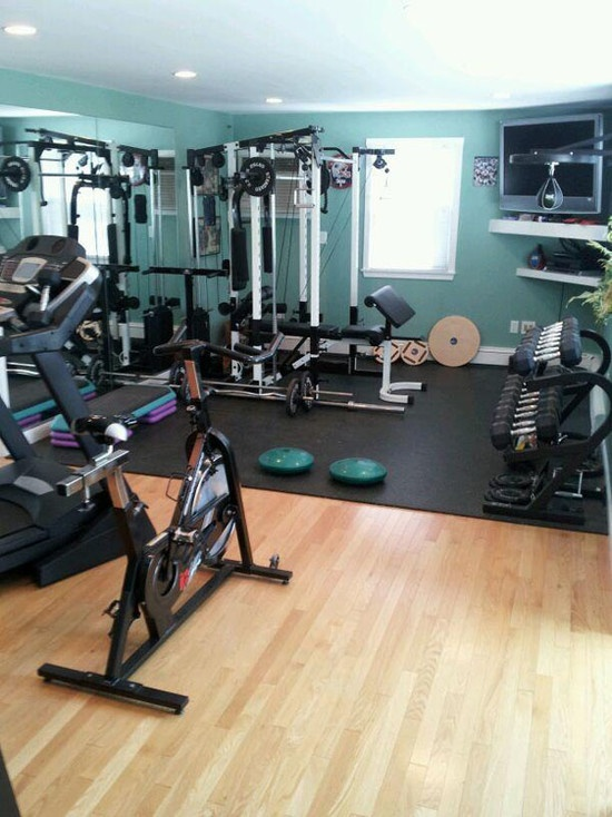 Wall Art For A Home Gym : Well equipped home gym design ideas digsdigs