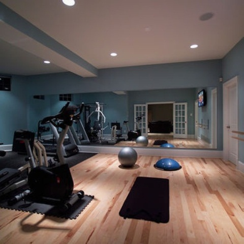 Blue Home Gym Design
