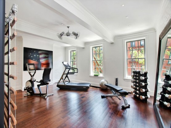 58 Well Equipped Home Gym Design Ideas - DigsDigs