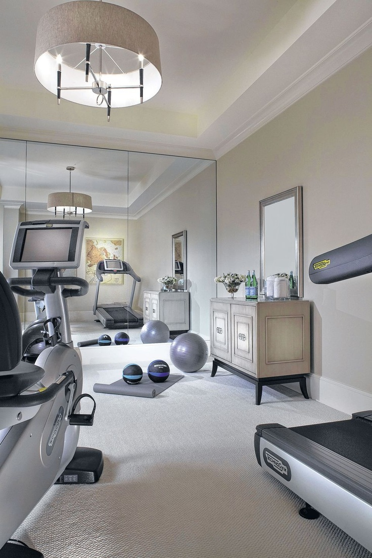 Source pinterest for Home gym interior design