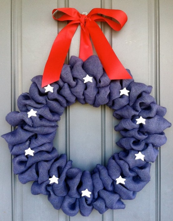 60 amazing 4th july wreaths for your front door digsdigs for Amazing wreaths