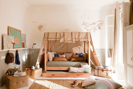 Amazing Kid's Room Design In Calm Shades