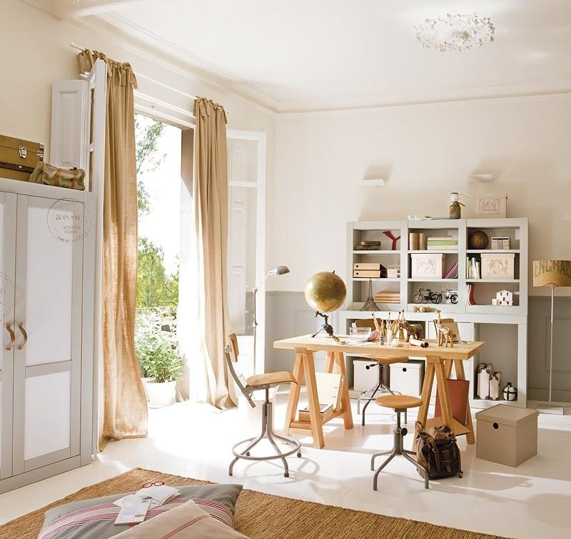 Amazing Kid's Room Design In Calm Shades