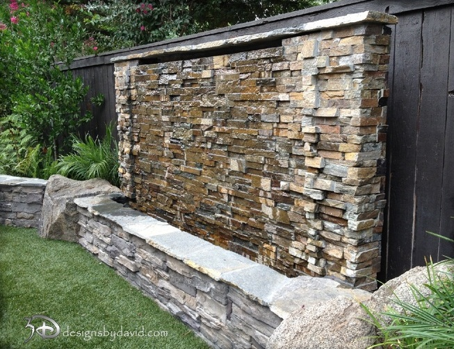38 Amazing Outdoor Water Walls For Your Backyard | DigsDigs on Backyard Feature Walls id=12012