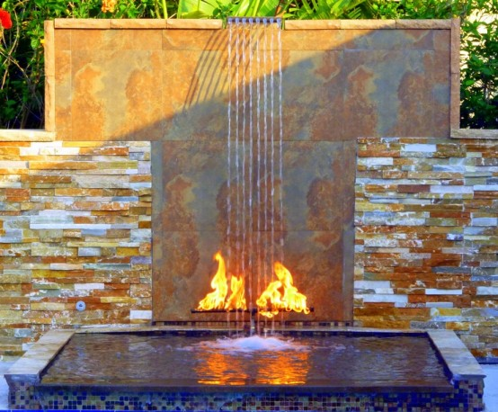 49 amazing outdoor water walls for your backyard digsdigs for Backyard waterfall design some hints