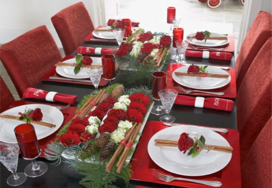 45 amazing christmas table decorations digsdigs - Decoration de table idees ...
