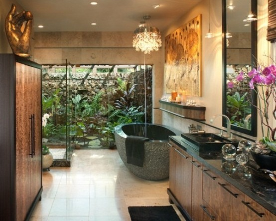 Delightful Amazing Tropical Bathroom Decor Ideas Part 5
