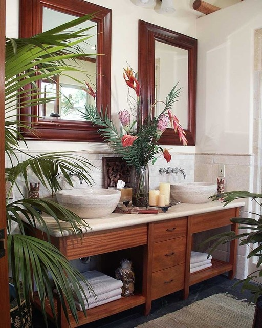 Hawaiian Home Design Ideas: 42 Amazing Tropical Bathroom Décor Ideas