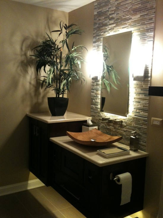 42 amazing tropical bathroom d cor ideas digsdigs for Bathroom canisters ideas