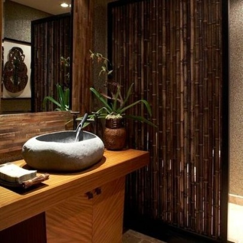 Fresh Amazing Tropical Bathroom Decor Ideas