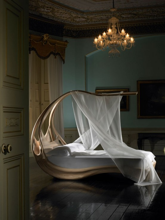 Amazing Wooden Canopy Bed Enignum By Joseph Walsh Digsdigs