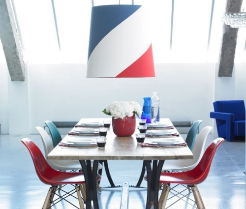 American Style Colorful Dining Room