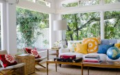 An Amazing Sunroom With A Tree Behind The Window