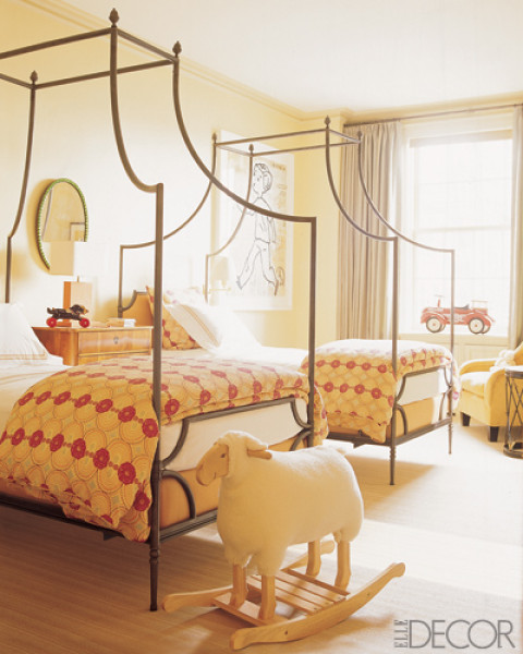 An Apartment's Kids Bedroom With The Loire Canopy Beds