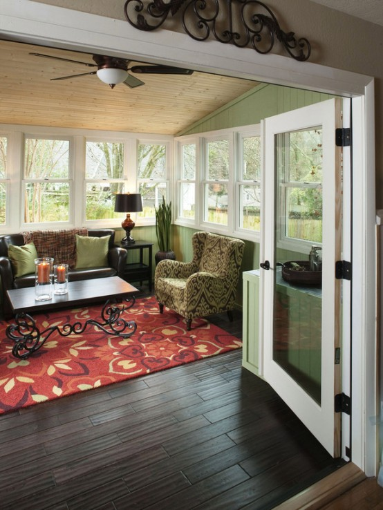 an awesome screen porch - Sunroom Design Ideas