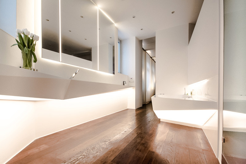Picture Of angular bathroom inspired by the shape of ice  1