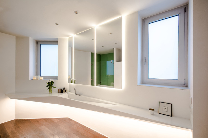 Picture Of angular bathroom inspired by the shape of ice  4