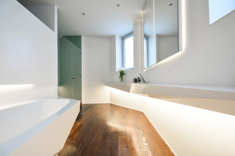 Picture Of angular bathroom inspired by the shape of ice  8