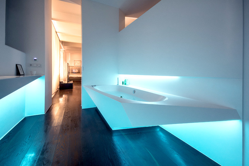 Picture Of angular bathroom inspired by the shape of ice  9