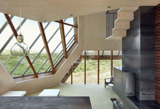 Angular Beach Home That Blends In With The Dunes