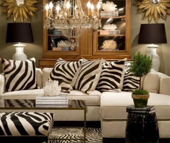 25 ideas to use animal prints in home d cor digsdigs for Room decor zebra print