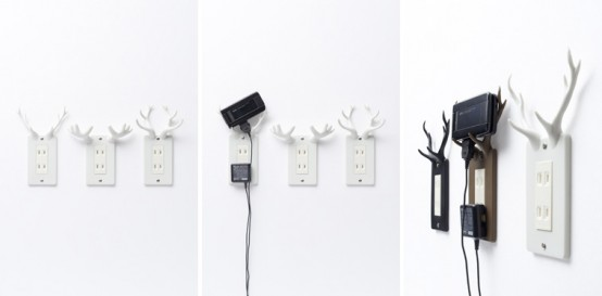 Outlets with Antlers by Nendo